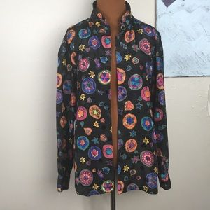 Vintage Nicola 80's neon pattern button down top